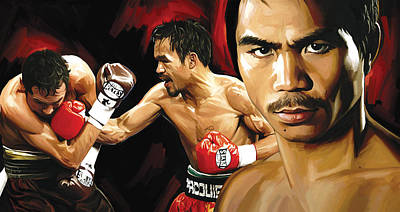 Manny Pacquiao Artwork 2 Poster by Sheraz A