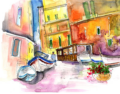 Manorola In Italy 03 Poster by Miki De Goodaboom