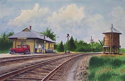 Mansfield Railroad Station Poster