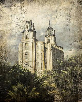 Manti Utah Temple Sentinel Antique Poster