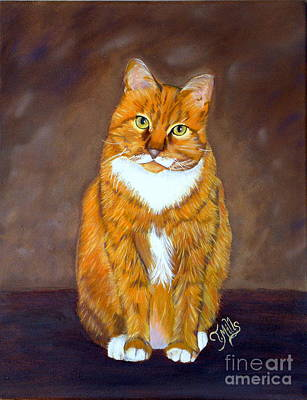 Poster featuring the painting Manx Cat by Terri Mills