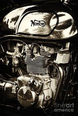 Manx Norton Sepia Poster