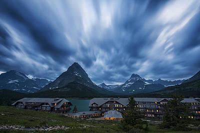 Many Glacier Lodge Poster by Mark Kiver