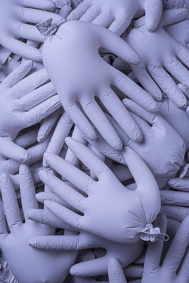 Many Gray Hands Poster by Garry Gay