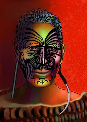 Maori Warrior - 6 Poster by Marlene Watson