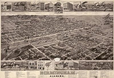 Map Alabama, C1885 Poster