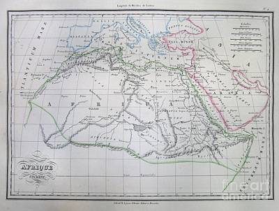 Map Of Africa In Ancient Times Poster by Paul Fearn