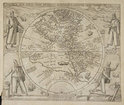 Map Of America Poster by British Library