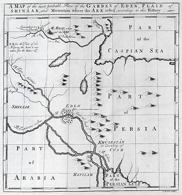 Map Of Biblical Locations, 18th Century Poster by Science Photo Library