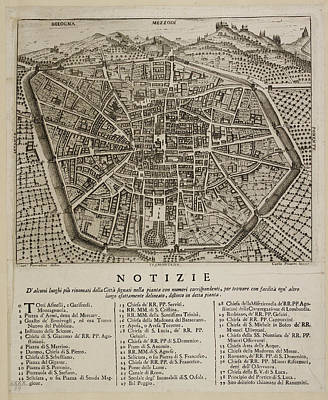 Map Of Bologna Poster by British Library
