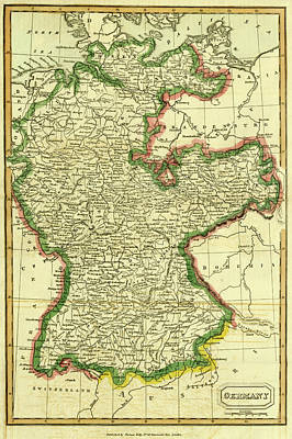 Map Of Germany By Thomas Kelly Poster
