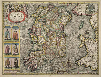 Map Of Ireland Poster by British Library