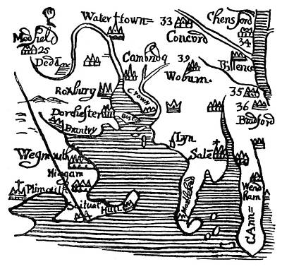 Map Of New England, 1677 Poster by Granger