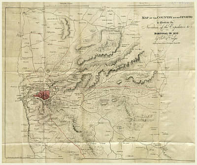 Map Of Oporto, Narrative Of The Expedition To Portugal Poster