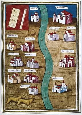 Map Of Palestine. Illustration Poster