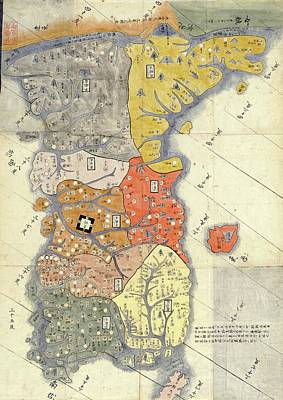 Map Of Provinces Of Korea Poster