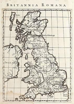 Map Of Roman Britain Poster