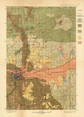 Map Of Spokane 1898 Poster