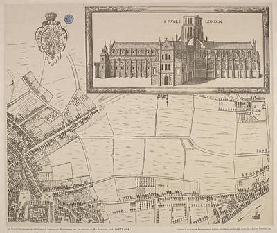 Map Of St Pauls London Poster by British Library