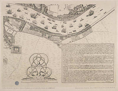 Map Of The River Thames Circa 1560-70 Poster by British Library