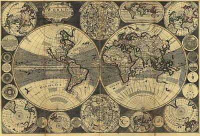Ptolemy World Map Posters Fine Art America
