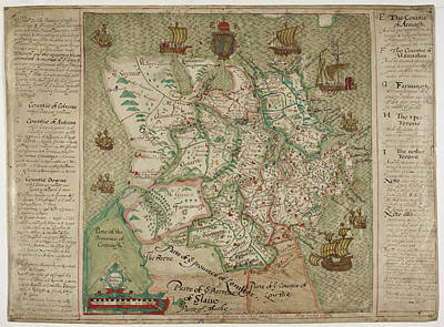 Map Of Ulster Poster by British Library