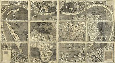 Map Waldseemueller, 1507 Poster