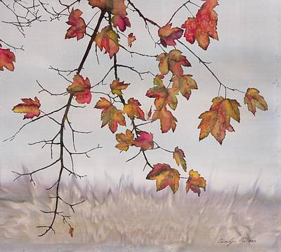 Maple In Gray Sky Poster by Carolyn Doe