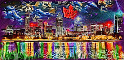Maple Leaf Montreal Poster