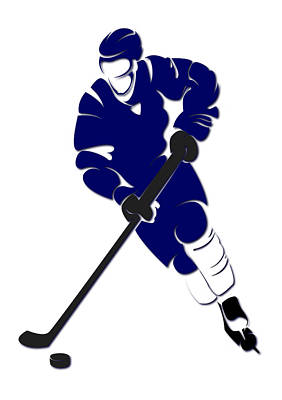 Maple Leafs Shadow Player Poster by Joe Hamilton
