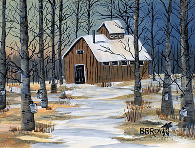 Maple Syrup Shack Poster by Brenda Brown