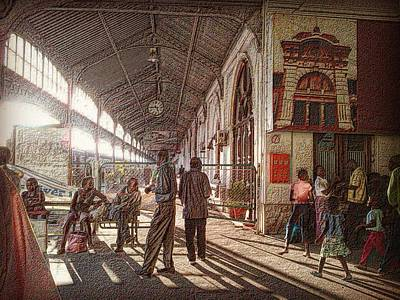 Maputo Railway Station Poster