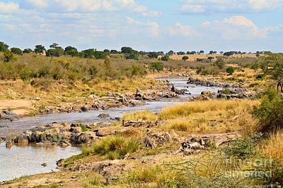 Mara River Landscape Kenya Poster by Liz Leyden