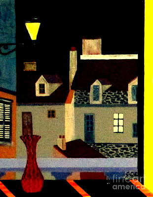 Marais At Night Poster
