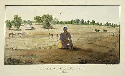 Maratha Ascetic On Pilgrimage To Benares Poster by British Library