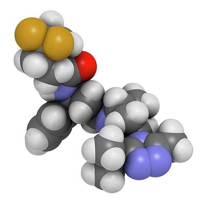 Maraviroc Hiv Drug Molecule Poster by Molekuul