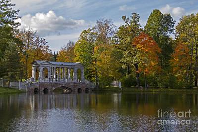 Marble Bridge In The Park Poster by Rita Kapitulski