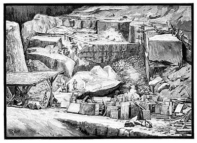 Marble Quarry Poster by Science Photo Library
