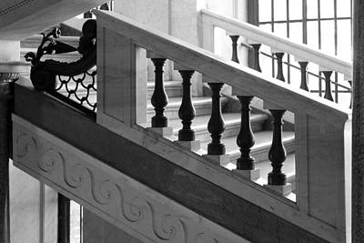 Poster featuring the photograph Marble Stair by Brad Brizek