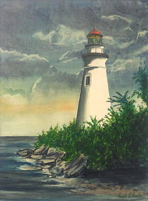 Marblehead Light On Lake Erie Poster