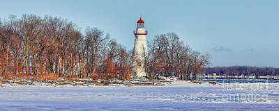 Marblehead Lighthouse In Winter Poster