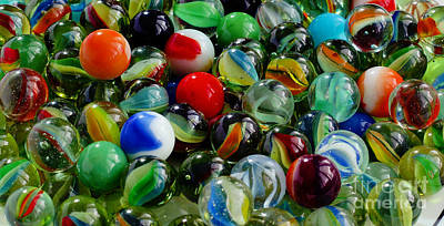 Marbles - Glass Balls - Toys - Ringers - Mibs Poster