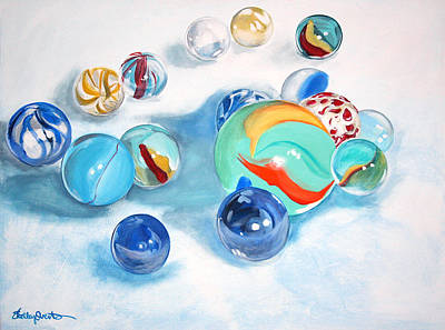 Marbles Poster by Shelley Overton