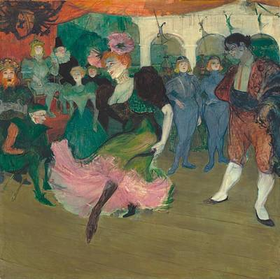 Marcelle Lender Dancing The Bolero In Chilperic Poster by Toulouse-Lautrec