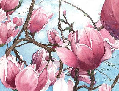 Poster featuring the painting March Magnolia by Barbara Jewell
