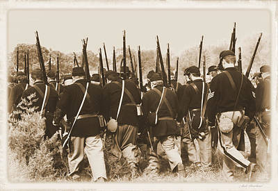 Poster featuring the photograph Marching Into Battle by Judi Quelland