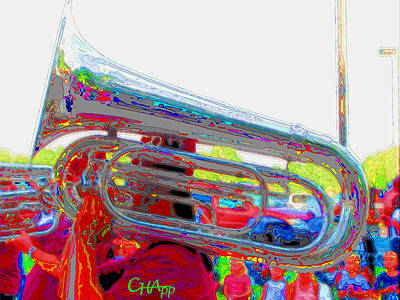 Marching Tuba Poster by C H Apperson