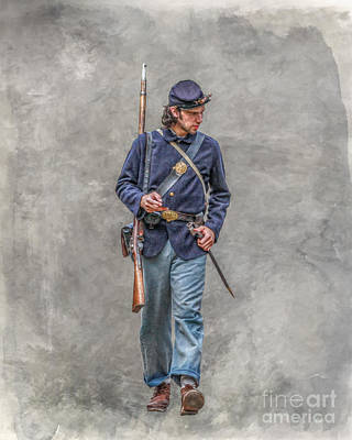 Marching Union Soldier Ver Three Poster by Randy Steele