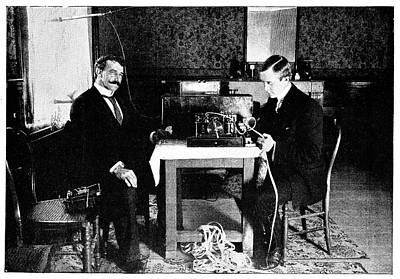Marconi And Radio At South Foreland Poster by Science Photo Library