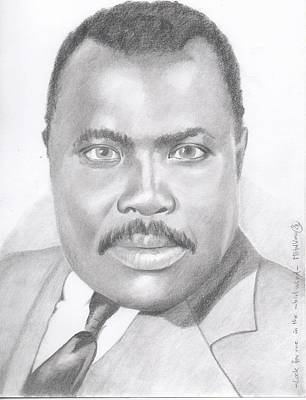 Marcus Garvey - Look For Me In The Whirlwind Poster by Michel Kress